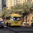 Yellow School Bus in Dubai, United Arab Emirates — Photo