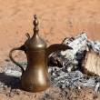 Traditional Arabian Coffee Pot at Bedouin Camp in the desert — Stock Photo