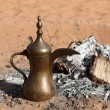 Traditional Arabian Coffee Pot at Bedouin Camp in the desert — Stock Photo #13541649