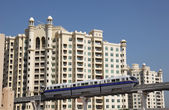 Der palm monorail in dubai, vereinigte arabische emirate. — Stockfoto