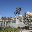 Statue with fountain in Jerez de la Frontera, Andalusia Spain — Foto de Stock