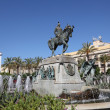 Statue with fountain in Jerez de la Frontera, Andalusia Spain — Stock Photo