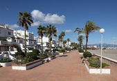 Promenade in La Duquesa, Costa del Sol, Andalusia Spain — Stock Photo