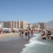 Beach in Fuengirola, Costa del Sol, Province of Malaga, Andalusia Spain — Stock Photo