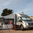 Motorhome on camping site in Spain — Stock Photo #14223579