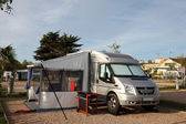 Motorhome on a camping site in Spain — Stock Photo