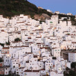 Andalusian village Casares at dusk. Costa del Sol, Spain - Stock Photo