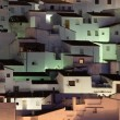 Andalusian village Casares at night. Costa del Sol, Spain -  