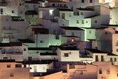 Andalusian village Casares at night. Costa del Sol, Spain — Stock Photo