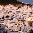 Andalusian village Casares at dusk. Costa del Sol, Spain — Stock Photo