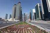 Street in Doha downtown district. Qatar, Middle East — Stock Photo
