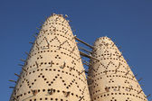 Pigeon towers in Doha, Qatar, Middle East — Stock Photo
