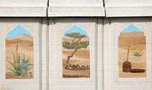 традиционной бедуинской жизни сцены мозаика в дохе, катар — Стоковое фото