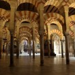 Interior of the medieval Mosque-Cathedral in Cordoba, Andalusia Spain — Stock Photo