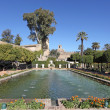 Gardens in the Alcazar of Christian Monarchs in Cordoba, Andalusia Spain - Stock Photo