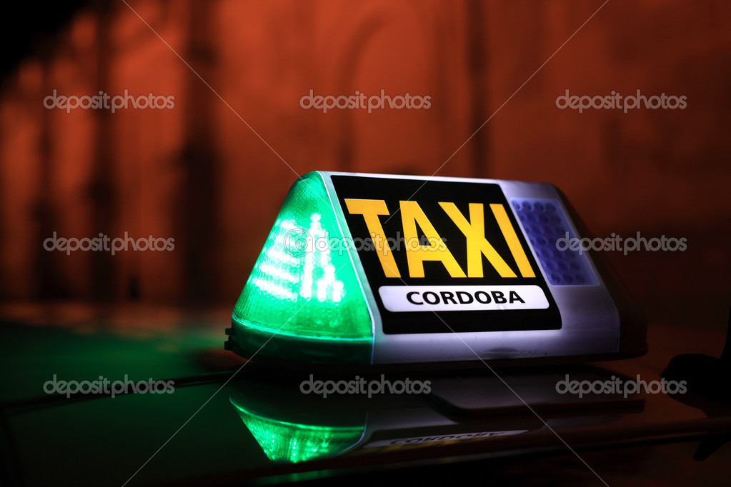 Taxi sign in Cordoba, Andalusia Spain — Stock Photo #18030587