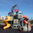 Stock Photo: Colorful pirate ship playground in a park