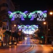 Christmas decoration in the street of Estepona, Andalusia, Spain — Stock Photo