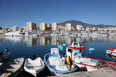 Fishing boats in the port of Estepona, Costa del Sol, Andalusia Spain — Stock Photo