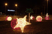 Christmas decoration in a roundabout in Andasia, Spain — Stock Photo