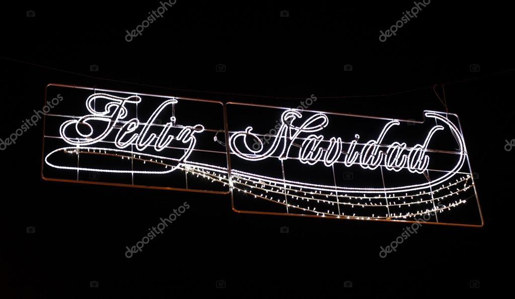 feliz navidad joyeux no l en espagnol d coration de rue. Black Bedroom Furniture Sets. Home Design Ideas