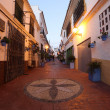 Street in the old town of Estepona, Costa del Sol, Andalusia, Spain — Stock Photo