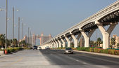 Main Road on the Palm Jumeirah, Dubai, United Arab Emirates — Stock Photo