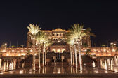 Emirates Palace at night, Abu Dhabi, United Arab Emirates — Stock Photo