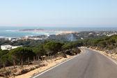 Blick über el palmar Dorf und Strand. Costa De La Luz, Andalusien, Spanien — Stockfoto