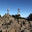 Communication towers on top of a mountain — Stock Photo