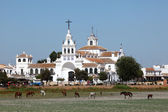 The Hermitage of El Rocio ( Ermita del Rocio or Ermita de El Rocio) Province of Huelva, Andalusia, Spain — Stock Photo