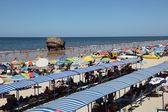 Matalascanas beach with the Torre la Higuera. Huelva Province, Andalusia Spain — Stock Photo