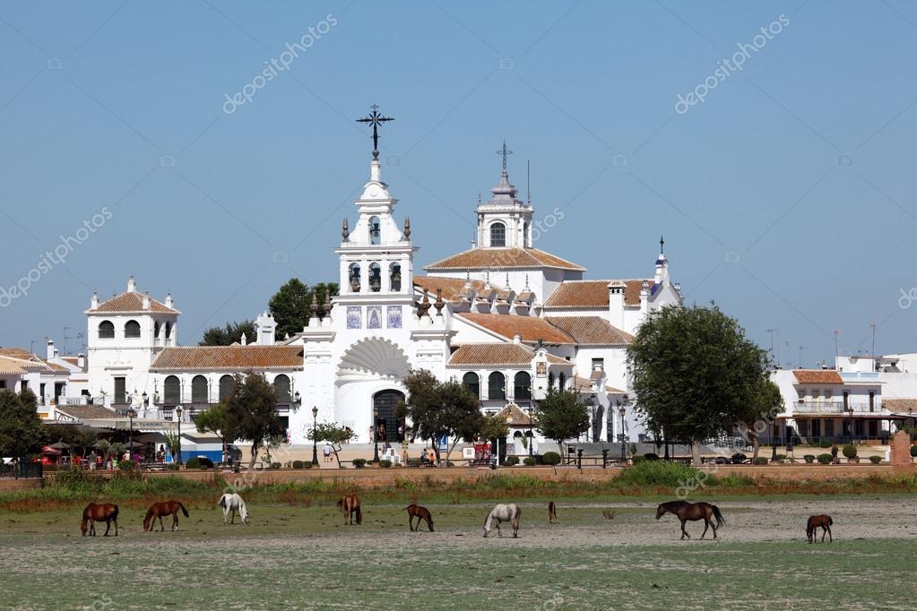 The Hermitage of El Rocio ( Ermita del Rocio or Ermita de El Rocio) Province ...