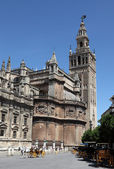 The famous cathedral and La Giralda in Seville, Andalusia Spain — Stock Photo