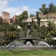 Fountain in Malaga, AndalusiSpain — Stock Photo #23586749