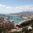 View over the city of Malaga, Andalusia Spain — Stock Photo