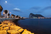 Promenade of La Linea and Gibraltar at dusk. Southern Europe, Spain — Stock Photo