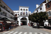 Street in Andalusian town Nerja, Province of Malaga, Spain — Stock Photo