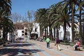 Promenade in Nerja, Province of Malaga, Andalusia Spain — Stock Photo
