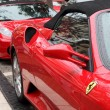 Stock Photo: Red Ferrari supercars