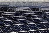 Фотоэлектрические панели солнечной электростанции — Стоковое фото