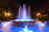 Blue illuminated fountain in Marbella, Spain — Stock Photo