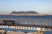 Promenade in Algeciras with a view of Gibraltar — Stock Photo
