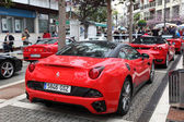 Ferrari supercars parked in the street of Estepona, Andalusia Spain — Stockfoto