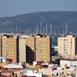 City of Algeciras with oil refinery in background. Andalusia Spain — Stock Photo