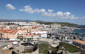 View over the city of Tarifa, Province of Cadiz, Andalusia Spain — Stock Photo