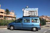 Overloaded van on the way to Morocco — Stock Photo