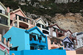 Colorful buildings of La Caleta village in Gibraltar — Stock Photo