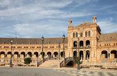 Spain square (Plaza de Espana) in Seville, Andalusia Spain — Foto de Stock