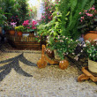 Stock Photo: Typical andalusian patio in Cordoba, Andalusia Spain